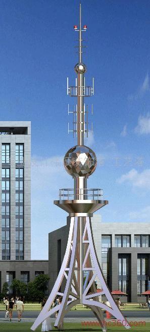 楼顶铁塔|装饰铁塔|工艺铁塔|带网架球塔架