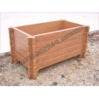 四川永圣园林景观水泥仿木花箱,仿木垃圾桶,仿木栏杆
