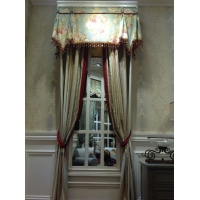 中式风格窗帘产品效果图