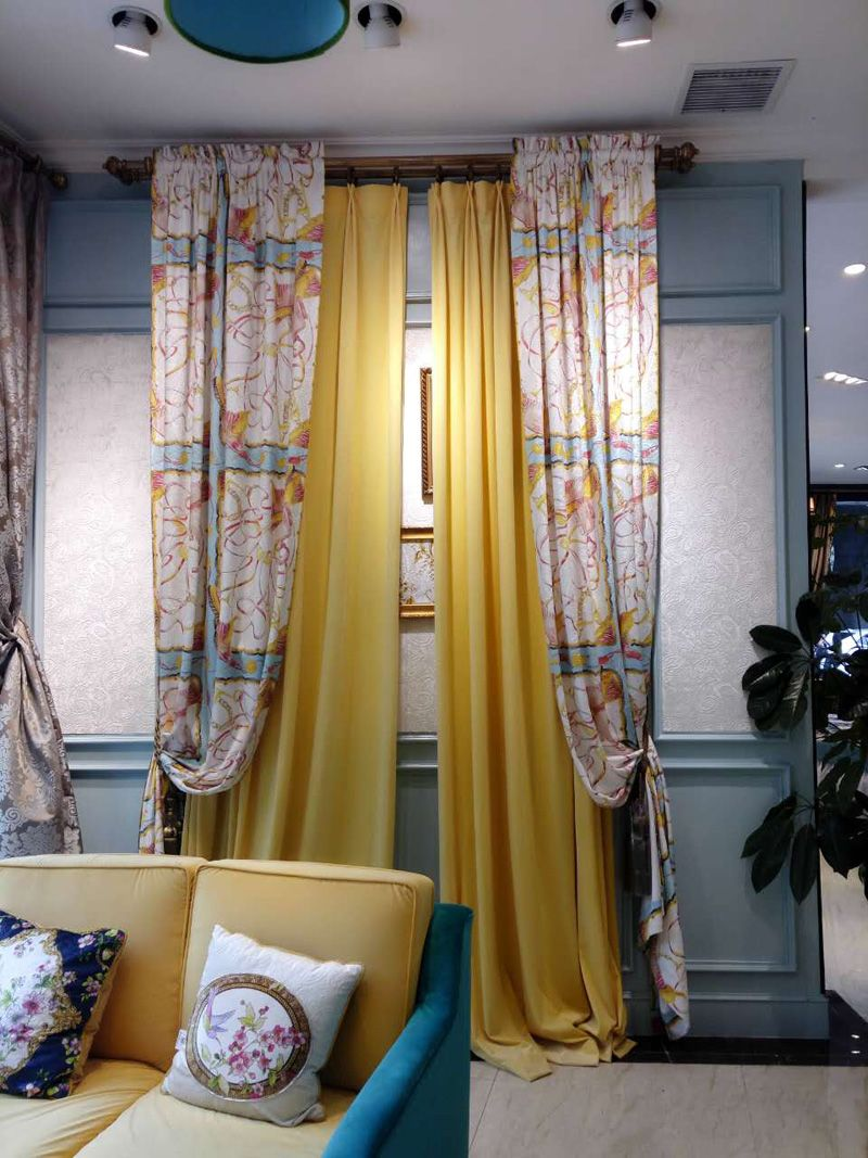 成都美饰美家国际软装—美式风格窗帘