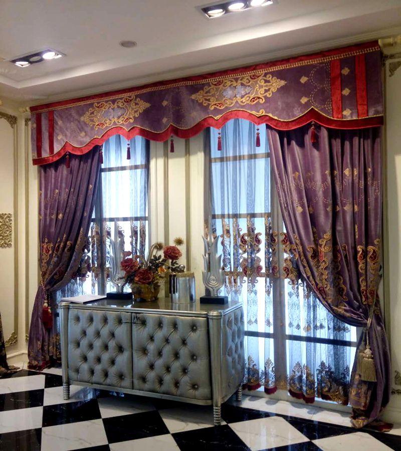 中式窗帘 - 成都美饰美家国际软装图片