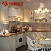 整体橱柜欧式厨房装修厨柜水曲柳实木定做全屋定制现代简约