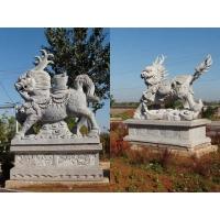风水瑞兽石雕麒麟,貔貅:腾飞如意送宝