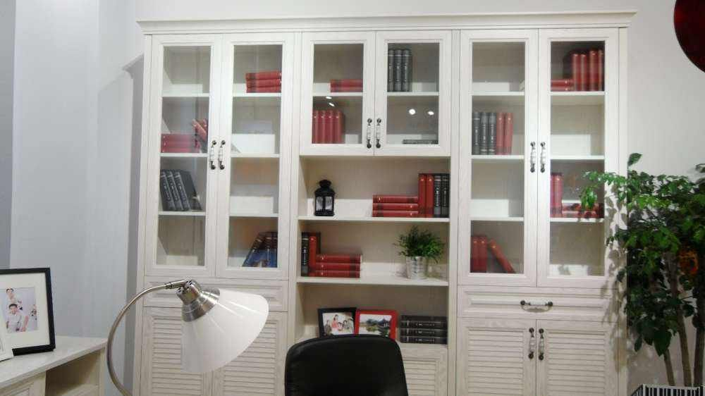 定制书柜组合简欧 九天定制 定制欧式书柜书桌图片