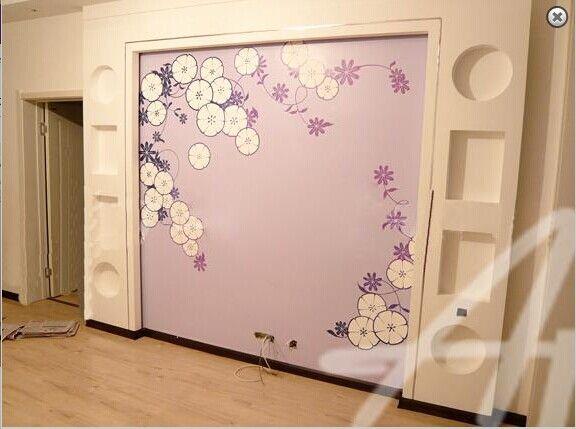 墙绘 壁画 手绘墙 清水样板房 3D清水样板房墙绘 3D彩绘