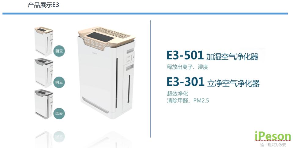 遼寧沈陽德國愛品生空氣凈化器E3-501代理 加盟 批發