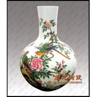 景德镇陶瓷花瓶 红釉天球瓶 开业庆典礼品