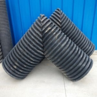 HDPE聚乙烯双壁波纹管弯头排水管接头可定做