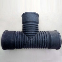 HDPE聚乙烯双壁波纹管三通可定做排水管接头