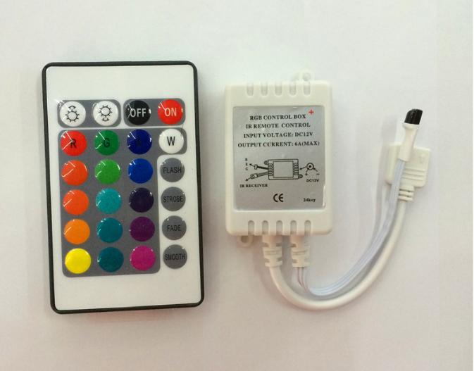 红外24键遥控器 RGB控制器 七彩遥控器 LED遥控器 灯
