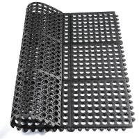 酒店厨房抗疲劳防滑橡胶地垫脚垫带孔排水安全橡胶地垫