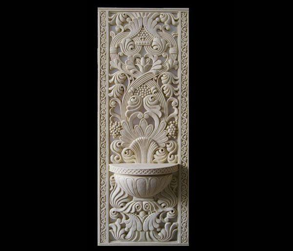 砂岩欧式对称花纹浮雕装饰