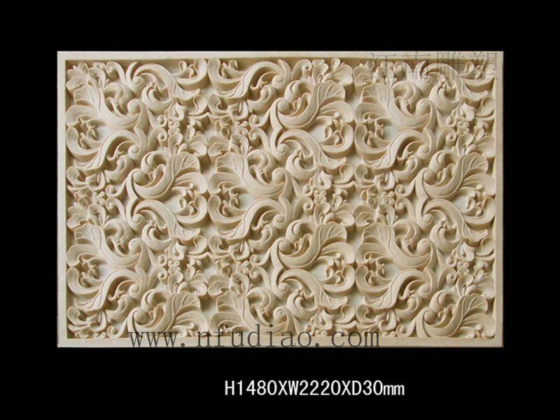 砂岩欧式花纹浮雕壁画