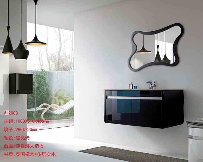 后现代浴室柜品牌 烤漆浴室柜厂家-维蒂尼卫浴