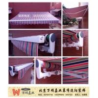 北京供应户外梯形电动曲臂伸缩遮阳棚广告法式雨篷折叠手摇蓬