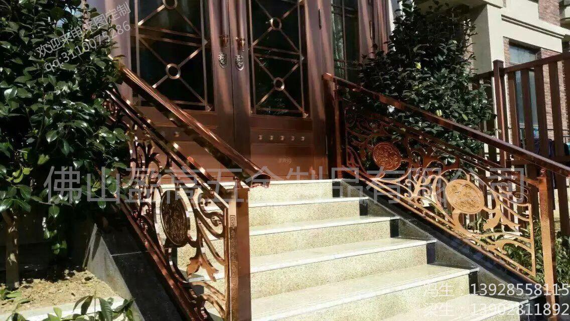 福建热销古铜色楼梯扶手护栏厂家 不锈钢安全护栏围栏