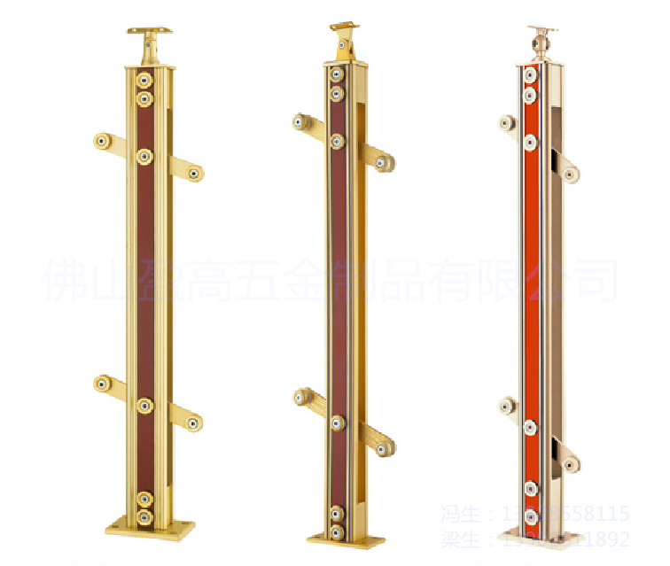 浙江铝镁合金夹木护栏扶手立柱厂家 不锈钢合金立柱