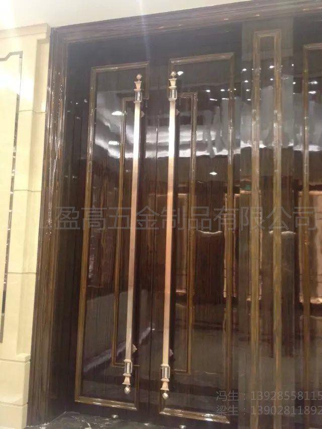 玻璃门拉手 加厚不锈钢拉手 木门地弹门中式大门把手