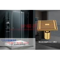 全铜地漏淋浴房浴室防臭防堵塞黄铜地漏
