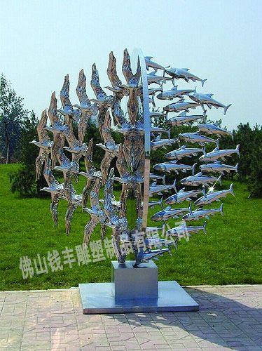 抽象不锈钢雕塑,不锈钢雕塑制作,不锈钢艺术雕塑