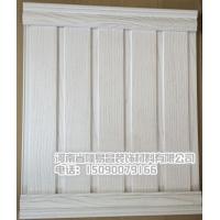 欧式仿木纹pvc塑钢墙裙护墙板吊顶 生态木绿可木