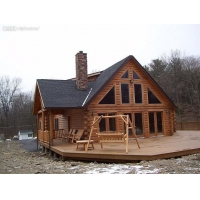 园林景观设计,别墅木屋建造休闲木屋设计