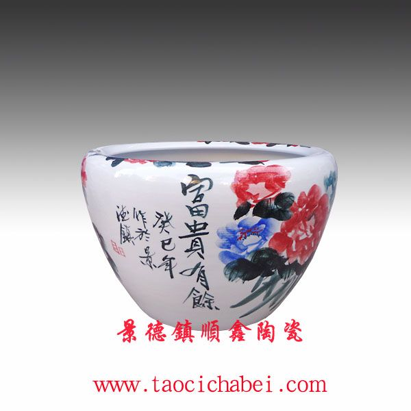 陶瓷花盆 景德镇瓷器花盆