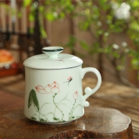 青釉陶瓷茶杯 带过滤网泡茶杯 公司周年庆典纪念礼品
