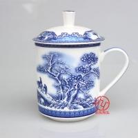 青花瓷茶杯 高档礼品纪念品 景德镇陶瓷茶杯厂家