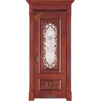 实木卫生间门|原木卫生间门|高档实木玻璃门|煌辉鸿实木门