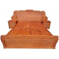 厂家直销红木家具东阳木雕仿古家具非洲花梨木百子大床