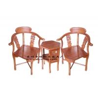 厂家直销红木家具生产供应非洲花梨皇宫椅三件套