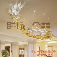 供应酒店灯具 大型工程灯 异形玻璃灯 现代非标订制灯具
