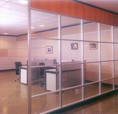 双层玻璃隔断 百叶玻璃隔断