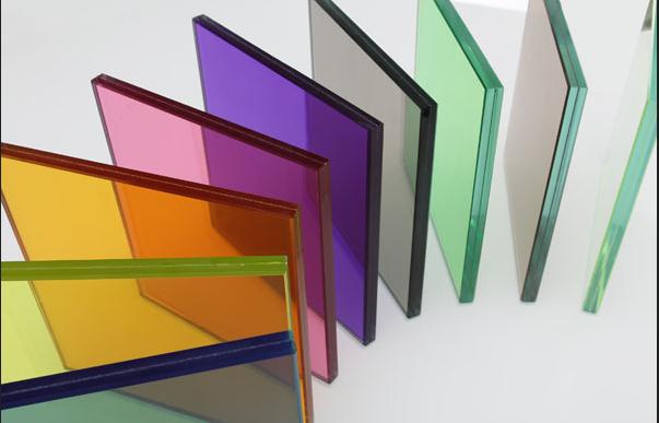 彩色夹胶玻璃、夹胶玻璃