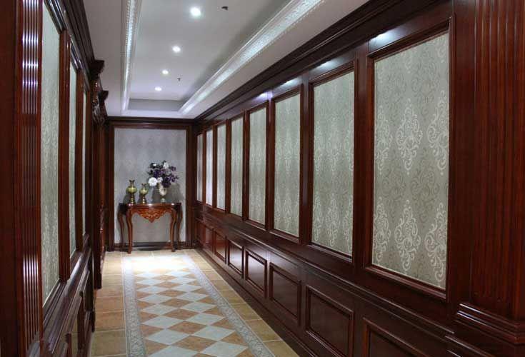 欧宝隆木门品牌中式欧式护墙板装修效果图片