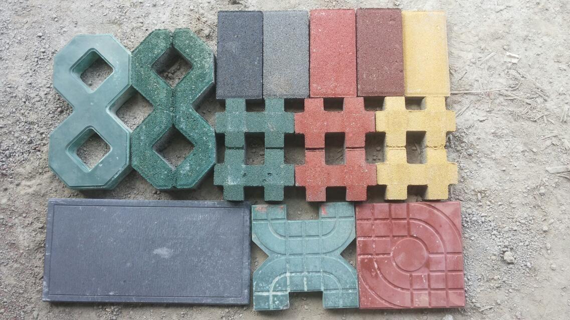 遵义彩砖 透水砖人行道彩砖 草坪砖 图 高清图片
