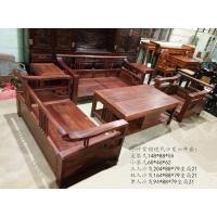 小叶紫檀现代沙发六件套 实木沙发 红木家具