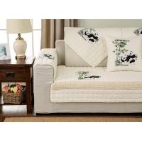 凡米特 全棉刺绣防滑沙发垫四季沙发套全包布艺沙发罩冬季沙发巾