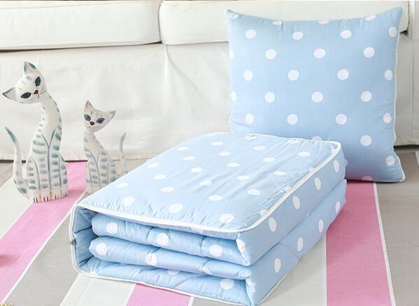 抱枕被子两用纯棉床头靠垫靠枕办公全棉多功能午睡枕汽车抱枕被