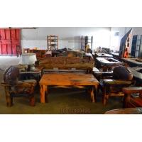 船木沙发 船木家具 沙发套装 百年老料船木沙发