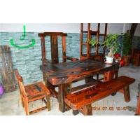 船木家具 船木仿古主椅 独板茶台 墨玉石茶台 船木茶台