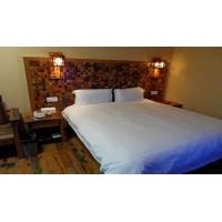 船木家具 新中式船木酒店床 船木酒店装修专用 船木卧室套装