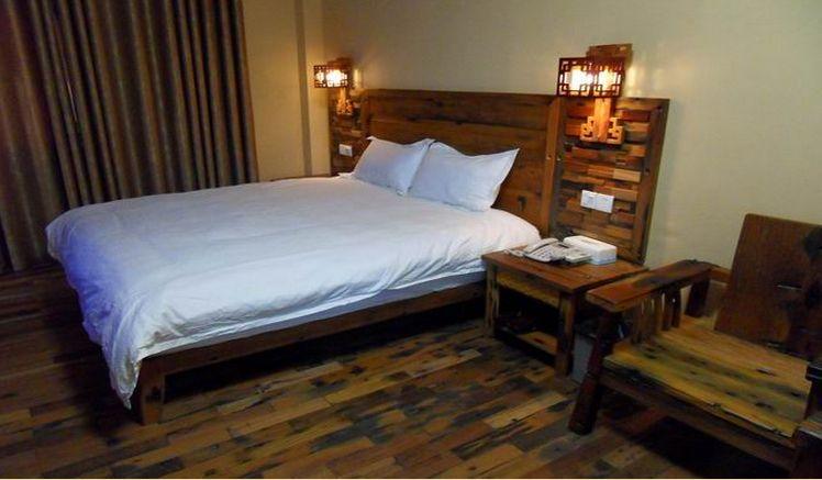 船木酒店新中式船木工人床船木家具组装v酒店装修家具的酒店图片