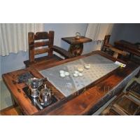 上好古船木功夫茶台老船木常用茶几 旧船木墨玉石茶台