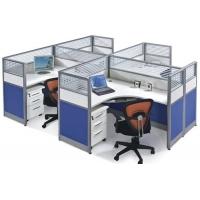 简约办公屏风4人办公桌 时尚办公屏风个性办公桌 办公卡座