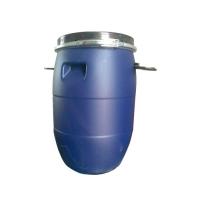 塑料桶60L升 大口铁箍塑料法兰桶