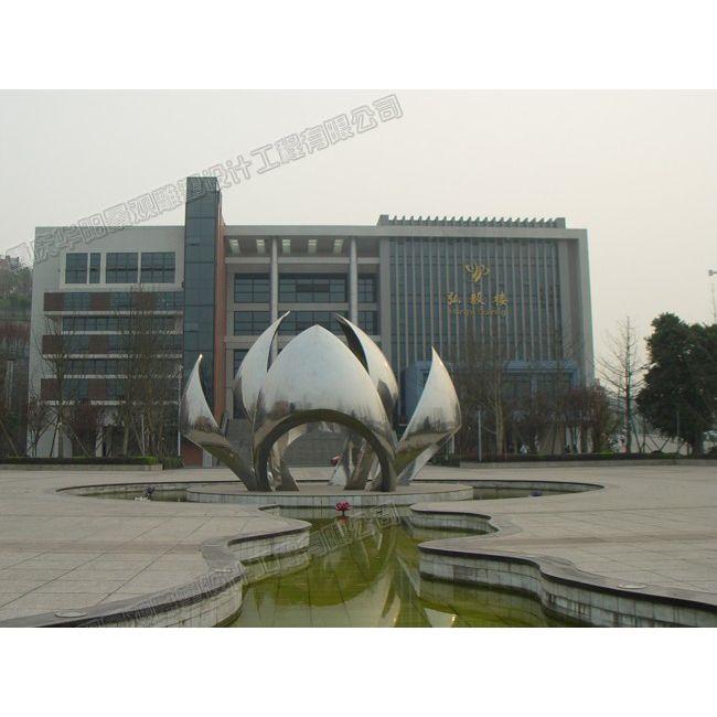 莲花雕塑设计/学校主题雕塑/重庆校园雕塑