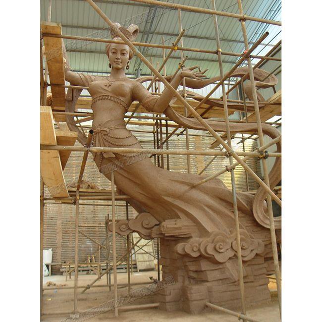 大型仙女雕塑设计/仙女雕塑图片/重庆雕塑公司