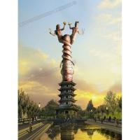 伏羲女娲城市雕塑/陕西大型城市雕塑/陕西雕塑公司